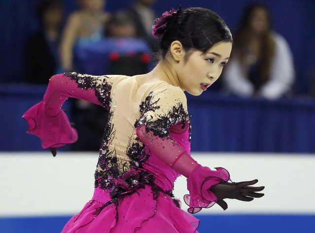 Miyu Nakashio of Japan performs during the ladies' singles short program at the Skate America figure skating competition in Milwaukee, Wisconsin October 23, 2015. (Photo by Lucy Nicholson/Reuters)