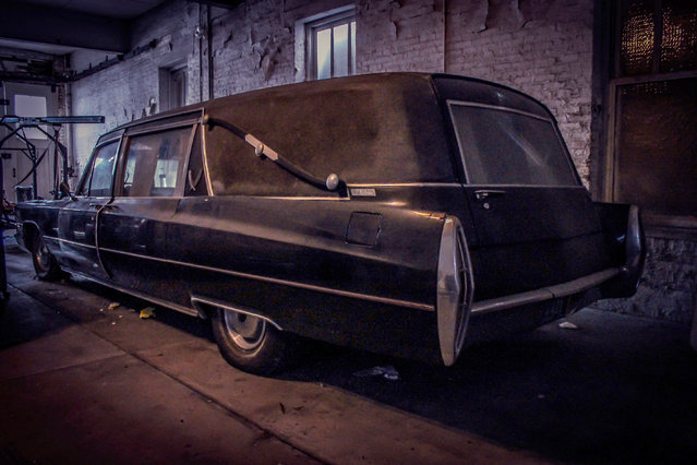 Built in 1856, the site is now aged beyond repair. The only relatively pristine portions are the large empty caskets, glass jars holding chemicals to preserve the dead and a black Cadillac hearse. (Photo by Abandoned Southeast/Caters News Agency)