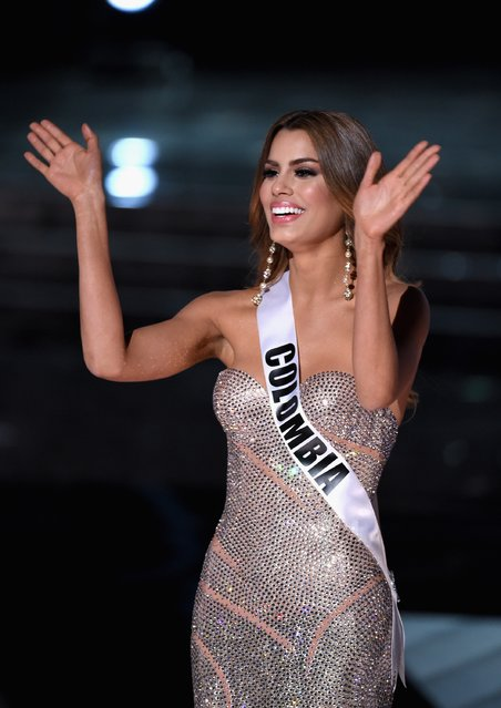 Miss Colombia 2015, Ariadna Gutierrez, is named a top three finalist during the 2015 Miss Universe Pageant at The Axis at Planet Hollywood Resort & Casino on December 20, 2015 in Las Vegas, Nevada. (Photo by Ethan Miller/Getty Images)