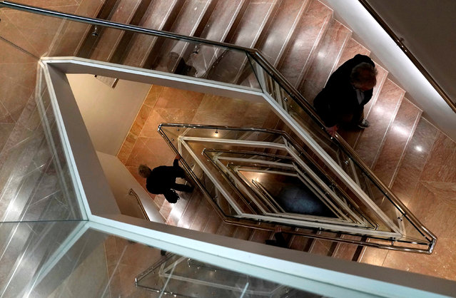 Visitors use the Tower Stair at the National Gallery of Art in Washington, U.S., February 25, 2019. (Photo by Kevin Lamarque/Reuters)