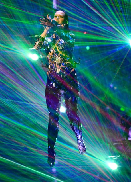 Katy Perry performs at the MTV EMA's 2013. (Photo by Kevin Mazur/WireImage)