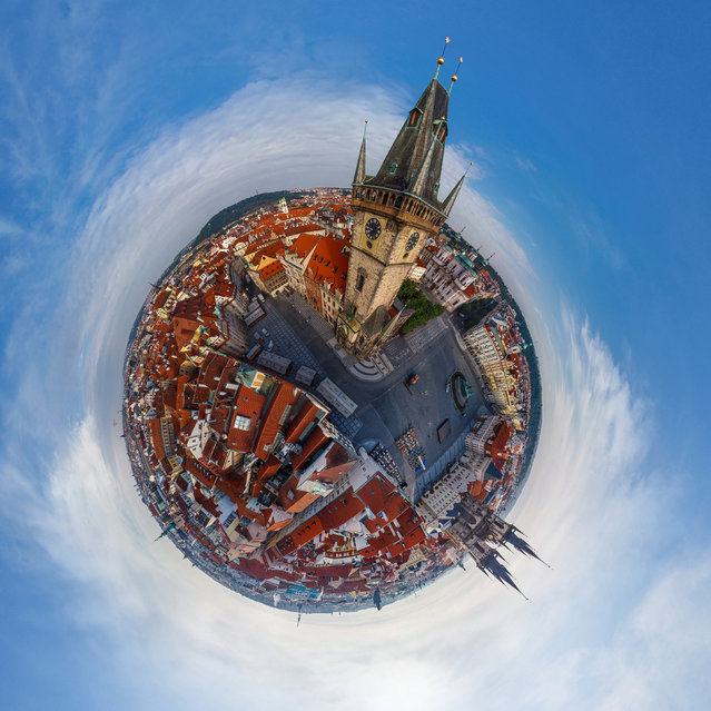 Praque astronomical clock in the Old Town City Hall, Prague. (Photo by Airpano/Caters News)