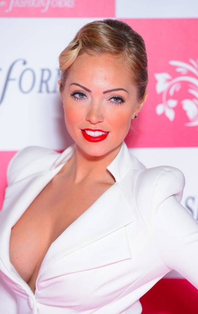 Aisleyne Horgan Wallace arriving at the UK Lingerie Awards at Freemasons Hall, London, on December 4, 2013. (Photo by Dominic Lipinski/PA Wire)