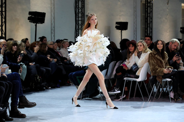 A model presents a creation by designer Alexandre Vauthier as part of his Haute Couture Spring-Summer 2019 collection show in Paris, France on January 22, 2019. (Photo by Gonzalo Fuentes/Reuters)
