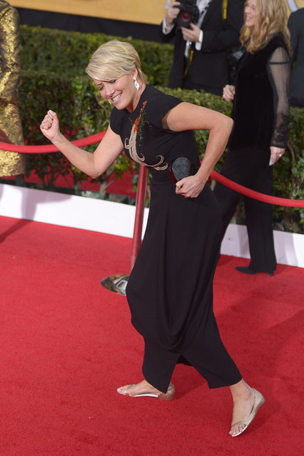 British actress Emma Thompson arrives for the 20th Annual Screen Actors Guild Awards at the Shrine Auditorium in Los Angeles, California, USA, 18 January 2014. (Photo by Paul Buck/EPA)