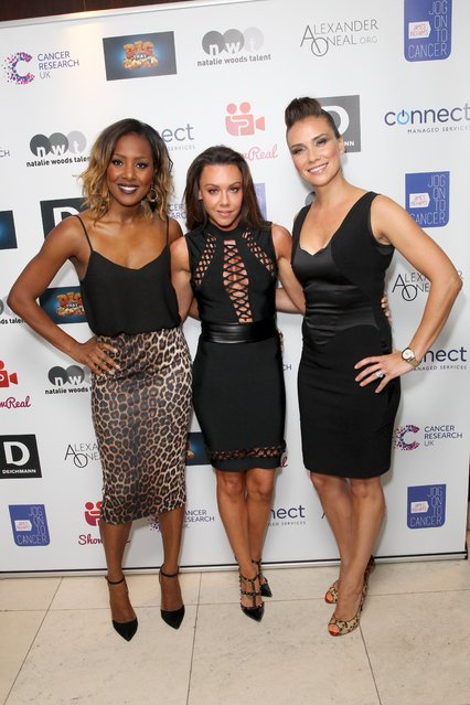 The Liberty X ladies attend James Ingham's Jog-On to Cancer part 5 at Kensington Roof Gardens on April 12, 2017 in London, England. (Photo by Fame Flynet)
