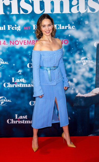 """British actress Emilia Clarke attends the """"Last Christmas"""" premiere at UCI Luxe movie theater on October 22, 2019 in Berlin, Germany. (Photo by Splash News and Pictures)"""