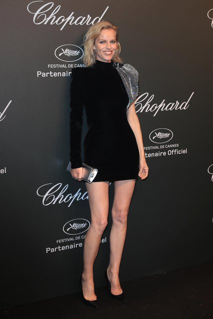 Eva Herzigova attends the Chopard Party during the 70th annual Cannes Film Festival at on May 19, 2017 in Cannes, France. (Photo by Antonio de Moraes Barros Filho/FilmMagic)