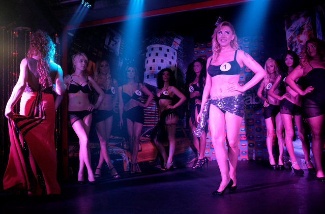 Contestants stand on the podium during the Angel of Turkey transgender/transsexual beauty pageant in Istanbul, Turkey, late May 26, 2016. (Photo by Murad Sezer/Reuters)