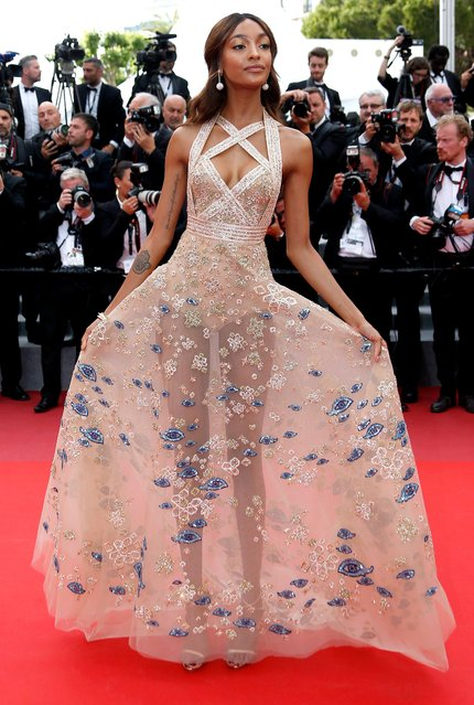 "British model Jourdan Dunn arrives for the premiere of ""The Killing of a Sacred Deer"" during the 70th annual Cannes Film Festival, in Cannes, France, 22 May 2017. The movie is presented in the Official Competition of the festival which runs from 17 to 28 May. Dress by Elie Saab Haute Couture. (Photo by Julien Warnand/EPA)"