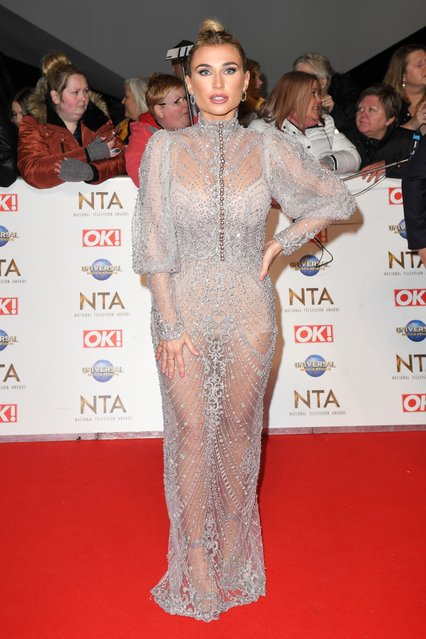 Billie Faiers attends the National Television Awards 2020 at The O2 Arena on January 28, 2020 in London, England. (Photo by James Veysey/Rex Features/Shutterstock)