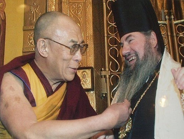 The Dalai Lama and the Russian priest
