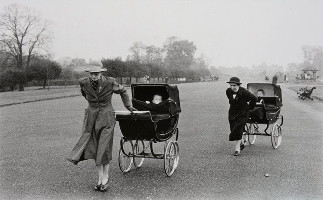 Nannies with baby carriages. London, England, 1960. (Photo by Bruce Davidson/Magnum Photo)