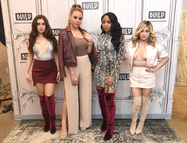 (L-R) Singers Lauren Jauregui, Dinah Jane, Normani Kordei and Ally Brooke of the group Fifth Harmony visit Build series at Build Studio on August 29, 2017 in New York City. (Photo by Gary Gershoff/WireImage)