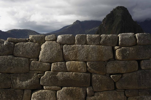An ancient wall is seen at the Inca citadel of Machu Picchu in Cusco December 2, 2014. (Photo by Enrique Castro-Mendivil/Reuters)