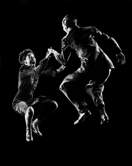 Willa Mae Ricker and Leon James demonstrating a step of The Lindy Hop, December 31, 1942. (Photo by Gjon Mili/Time & Life Pictures)