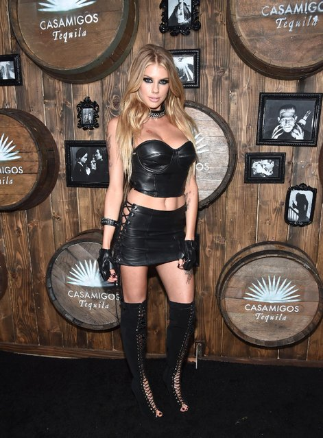Model Charlotte McKinney arrives to the Casamigos Halloween Party at a private residence on October 28, 2016 in Beverly Hills, California. (Photo by Alberto E. Rodriguez/Getty Images for Casamigos Tequila)