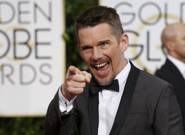 Actor Ethan Hawke arrives at the 72nd Golden Globe Awards in Beverly Hills, California January 11, 2015. (Photo by Mario Anzuoni/Reuters)