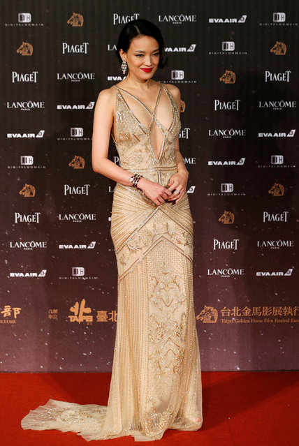 Actor Shu Qi poses on the red carpet at the 53rd Golden Horse Awards in Taipei, Taiwan November 26, 2016. (Photo by Tyrone Siu/Reuters)
