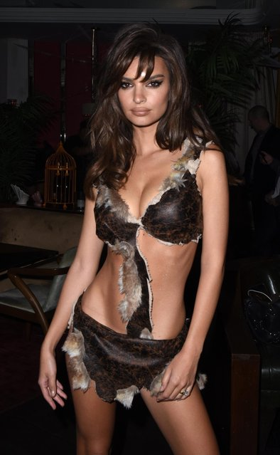 Emily Ratajkowski attends Travis Scott's Halloween At The Weekend Unlimited Delilah Take Over on October 31, 2018 in Los Angeles, California. (Photo by Vivien Killilea/Getty Images for Deliliah)