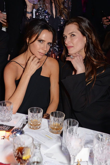 Victoria Beckham and Brooke Shields attend The Fashion Awards 2018 in partnership with Swarovski after party at the Royal Albert Hall on December 10, 2018 in London, England. (Photo by David M. Benett/Dave Benett/Getty Images)