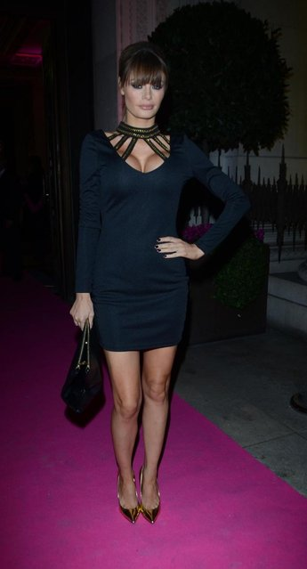 Chloe Simms arriving at the 2013 Lingerie Awards at Freemasons Hall in London, UK, on December 04, 2013. (Photo by INFphoto.com/LaPresse)