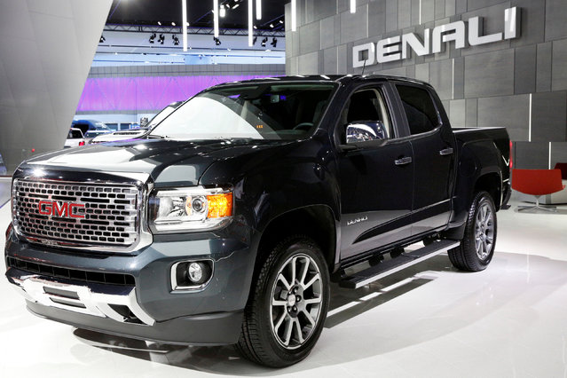 A GMC Denali truck is displayed during the North American International Auto Show in Detroit, Michigan, U.S., January 10, 2017. (Photo by Brendan McDermid/Reuters)