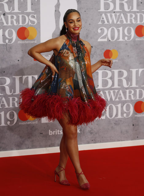 Jorja Smith arrives for the Brit Awards at the O2 Arena in London, Britain, February 20, 2019. (Photo by Peter Nicholls/Reuters)