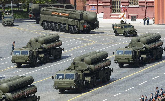 Russian S-400 Triumph/SA-21 Growler medium-range and long-range surface-to-air missile systems drive during the Victory Day parade at Red Square in Moscow, Russia, May 9, 2015. (Photo by Reuters/Host Photo Agency/RIA Novosti)