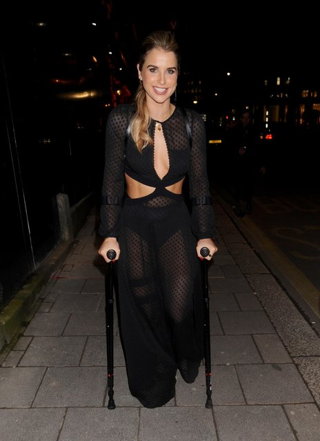 Vogue Williams attends Annabel's Bright Young Things – party on February 16, 2017 in London, England. (Photo by Stephen Coke/Rex Features/Shutterstock)
