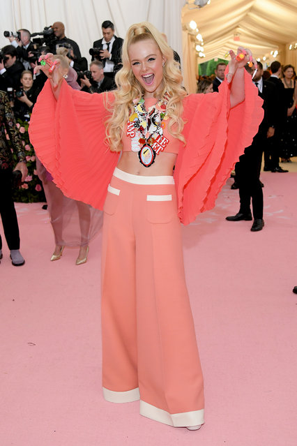 Elle Fanning attends The 2019 Met Gala Celebrating Camp: Notes on Fashion at Metropolitan Museum of Art on May 06, 2019 in New York City. (Photo by Neilson Barnard/Getty Images)