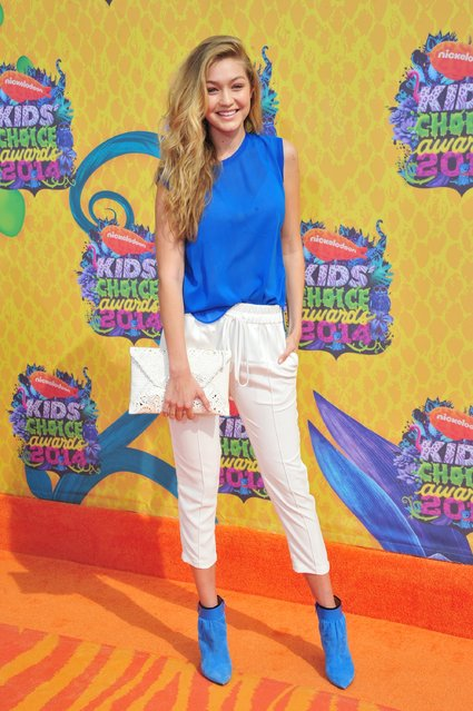 Model Gigi Hadid attends Nickelodeon's 27th Annual Kids' Choice Awards held at USC Galen Center on March 29, 2014 in Los Angeles, California. (Photo by Frazer Harrison/Getty Images)