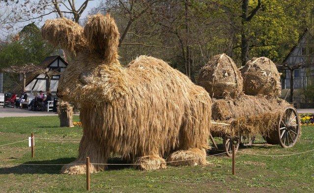 Straw Sculptures In Japan