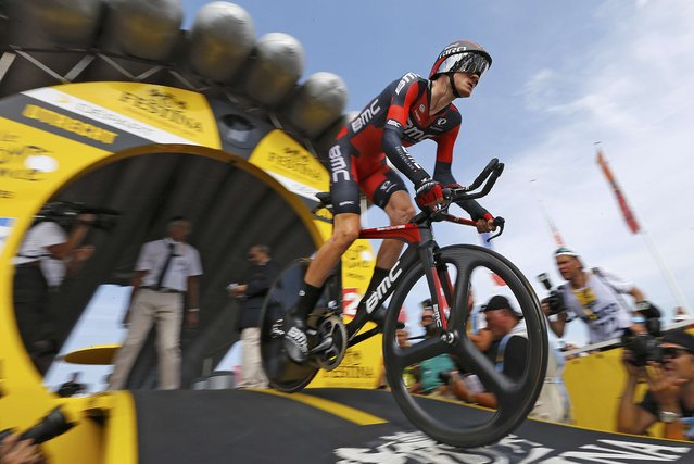 BMC Racing rider Tejay van Garderen of the U.S cycles during the 13.8 km (8.57 miles) individual time-trial first stage of the 102nd Tour de France cycling race in Utrecht, Netherlands, July 4, 2015. (Photo by Stefano Rellandini/Reuters)