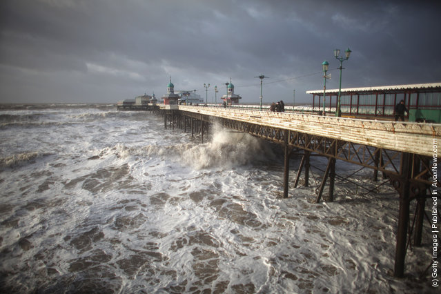 North West Of England Battered By High Winds