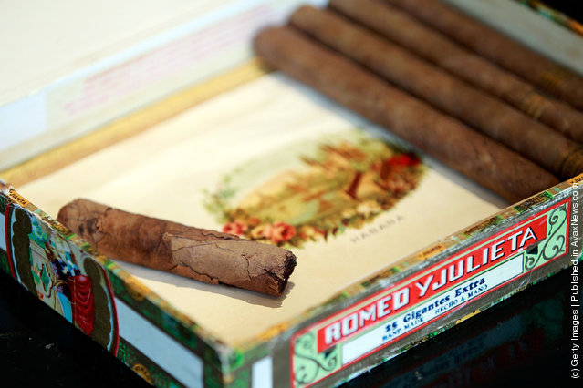 A collection of Sir Winston Churchill's wartime cigars, including four Romeo y Julieta Cuban Cigars
