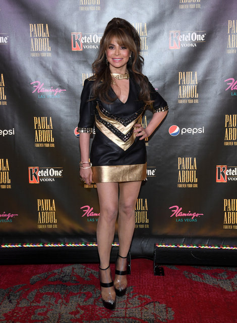 """Recording artist and dancer Paula Abdul attends the official opening of her Flamingo Las Vegas residency """"Paula Abdul: Forever Your Girl"""" at The Cromwell Las Vegas on October 24, 2019 in Las Vegas, Nevada.  (Photo by Ethan Miller/Getty Images)"""