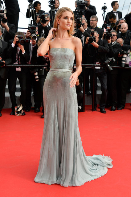 """Rosie Huntington-Whiteley attends """"The Search"""" premiere during the 67th Annual Cannes Film Festival on May 21, 2014 in Cannes, France. (Photo by Pascal Le Segretain/Getty Images)"""