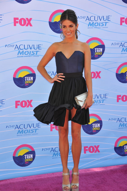 Actress Nikki Reed arrives at the 2012 Teen Choice Awards at Gibson Amphitheatre on July 22, 2012 in Universal City, California. (Photo by Jeffrey Mayer)
