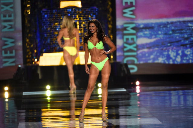 Miss New Mexico Taylor Rey competes in the swimsuit competition of the 97th Miss America Competition in Atlantic City, New Jersey U.S. September 10, 2017. (Photo by Mark Makela/Reuters)