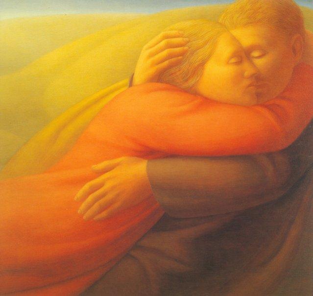 Lovers II. Artwork by George Tooker