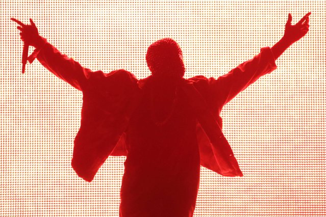 Rapper Kanye West performs during the Made in American music festival in Los Angeles, California August 31, 2014. (Photo by Jonathan Alcorn/Reuters)