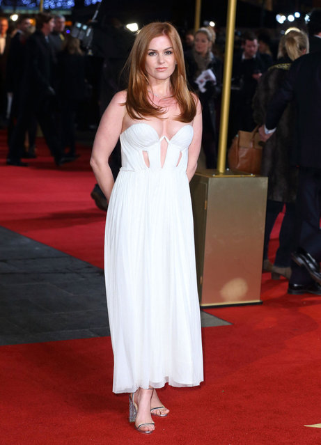Isla Fisher attends the World Premiere of 'Les Miserables' at Odeon Leicester Square on December 5, 2012 in London, England. (Photo by Mike Marsland/WireImage)