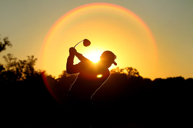 Charlie Wi of the United States warms up on the driving range prior to the start of round two at the Country Club of Jackson on November 7, 2014 in Jackson, Mississippi. (Photo by Marianna Massey/Getty Images)