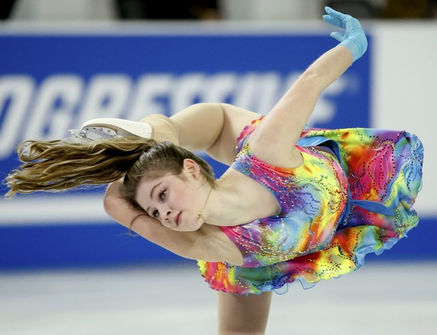Julia Lipnitskaia of Russia performs during the ladies' singles short program at the Skate America figure skating competition in Milwaukee, Wisconsin October 23, 2015. (Photo by Lucy Nicholson/Reuters)