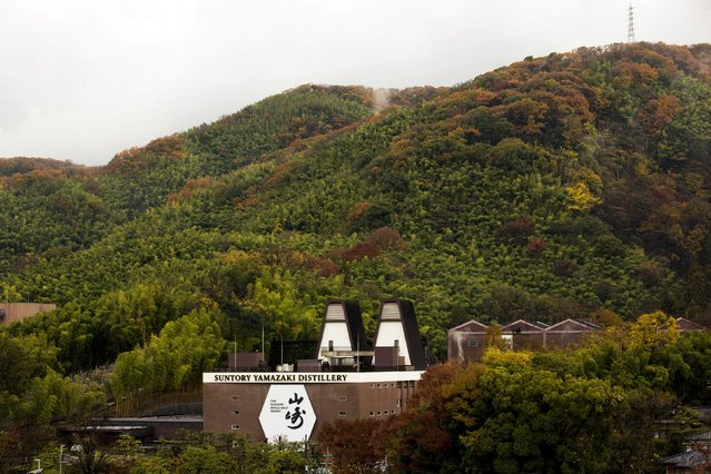 Suntory Holdings' Yamazaki Distillery stands on a hillside in Shimamoto town, Osaka prefecture, near Kyoto, December 1, 2014. (Photo by Thomas Peter/Reuters)