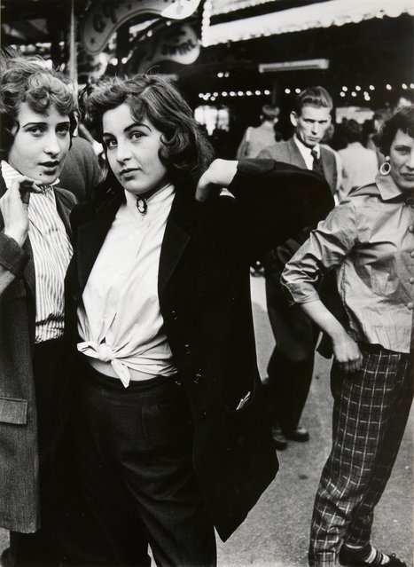 Teddy Girls, Battersea Fun Fair, 1956, by Roger Mayne. (Photo by Roger Mayne/Beetles+Huxley & Osborne Samuel)