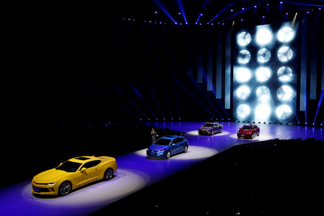 Chevrolet cars are shown at a Chevrolet event event in Guangzhou, China, November 17, 2016. (Photo by Bobby Yip/Reuters)