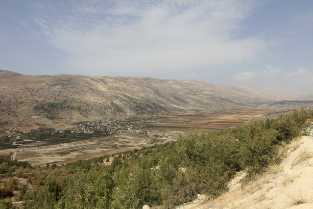 A general view shows the Bekaa valley in Lebanon October 19, 2015. Syrian refugees work to harvest and process spiky-leafed cannabis plants in neighbouring Lebanon's Bekaa Valley. (Photo by Alia Haju/Reuters)