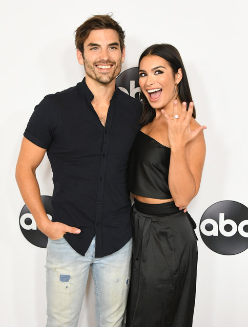 Jared Haibon and Ashley Iaconetti attend the Disney ABC Television TCA Summer Press Tour at The Beverly Hilton Hotel on August 7, 2018 in Beverly Hills, California. (Photo by Jon Kopaloff/FilmMagic)